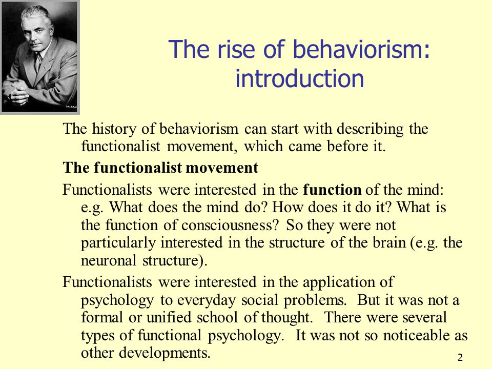 The rise of behaviorism: introduction