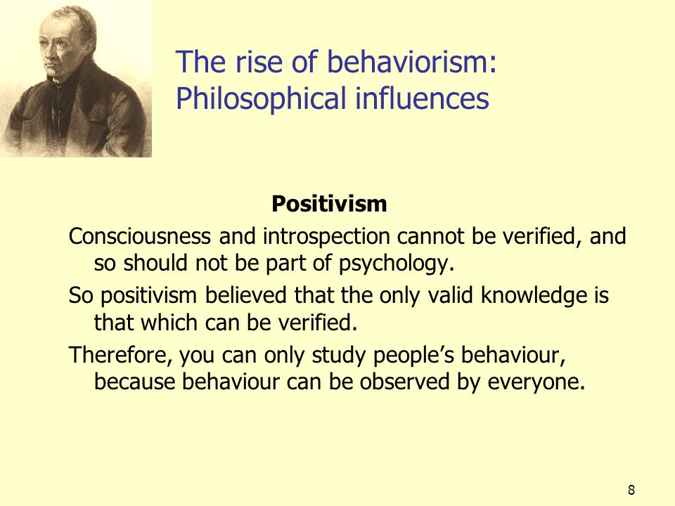 The rise of behaviorism: Philosophical influences