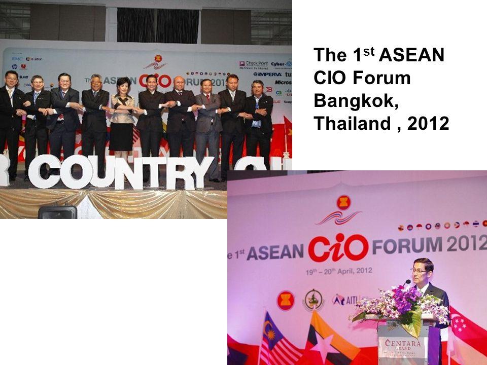 The 1st ASEAN CIO Forum Bangkok, Thailand , 2012
