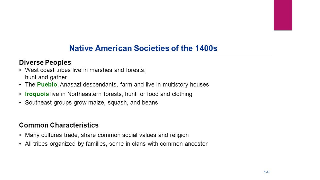Native American Societies of the 1400s