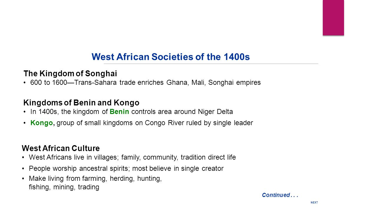 West African Societies of the 1400s