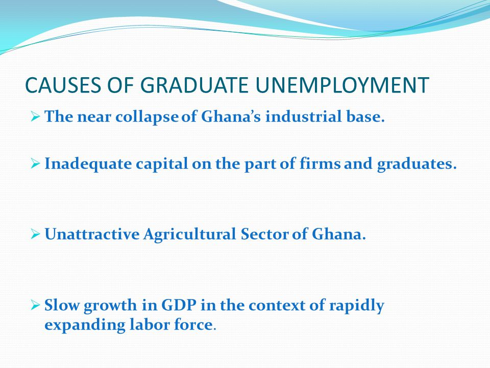 CAUSES OF GRADUATE UNEMPLOYMENT