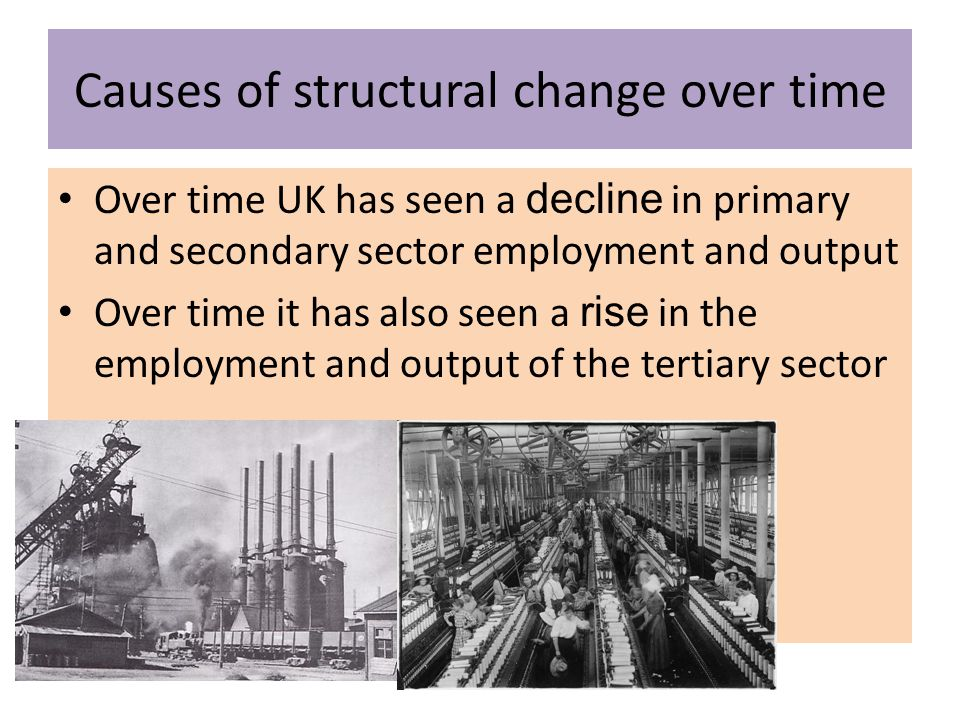 Causes of structural change over time