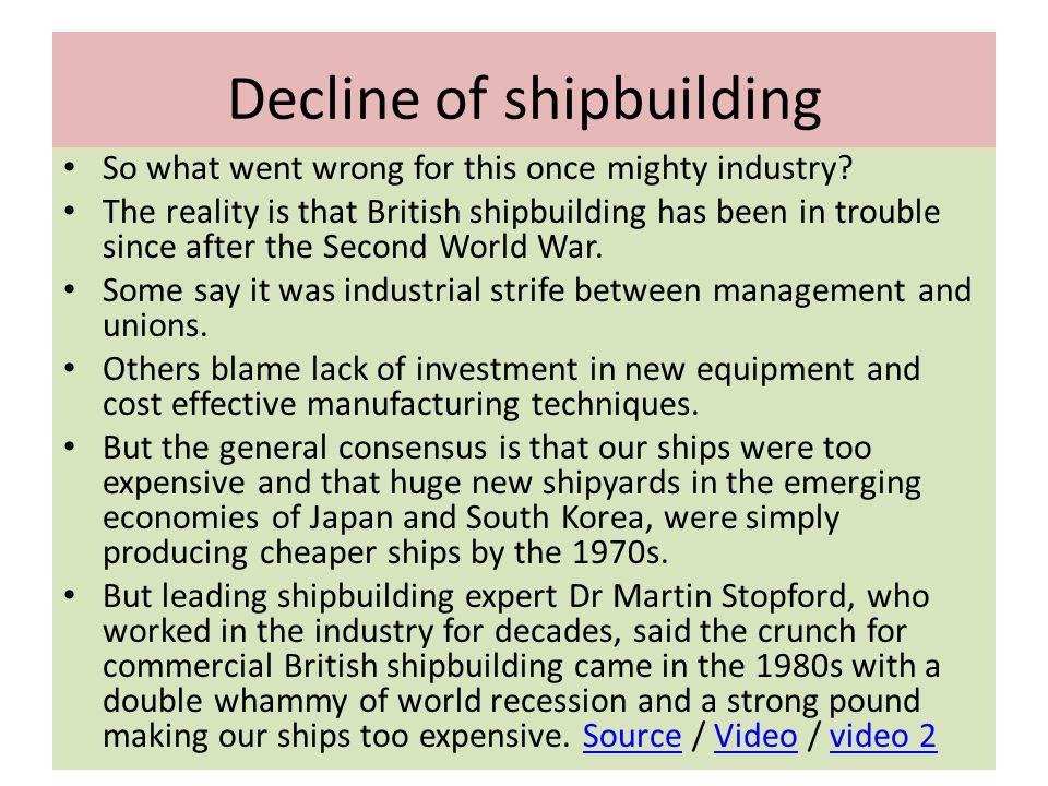 Decline of shipbuilding