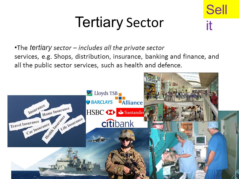 Tertiary Sector Sell it