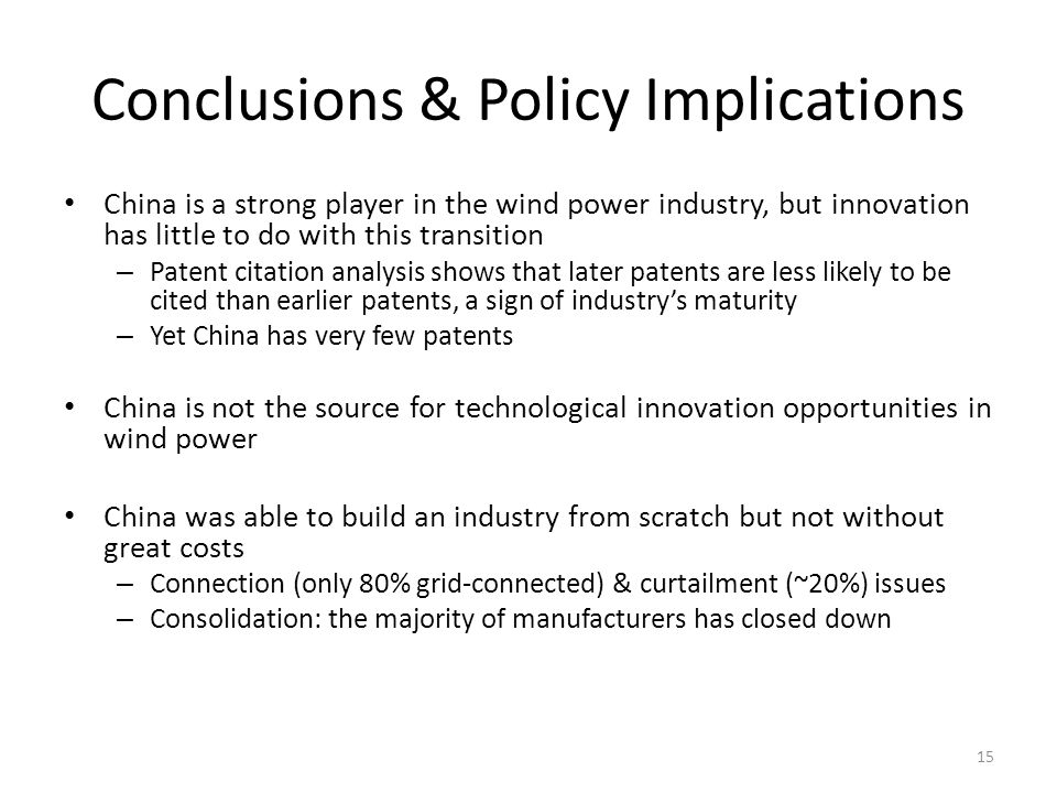 Conclusions & Policy Implications