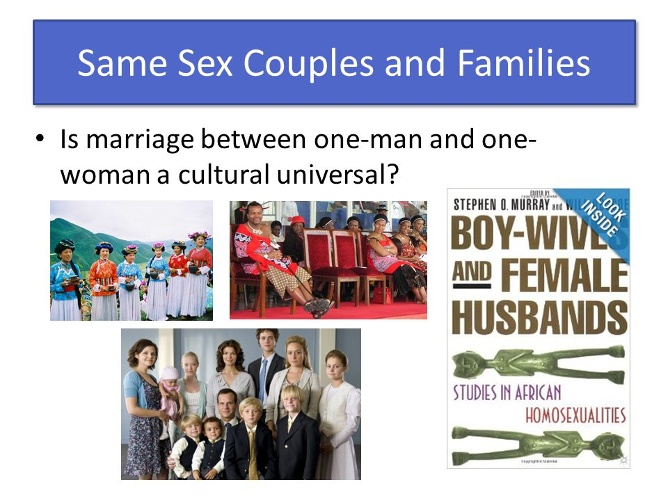 Same Sex Couples and Families
