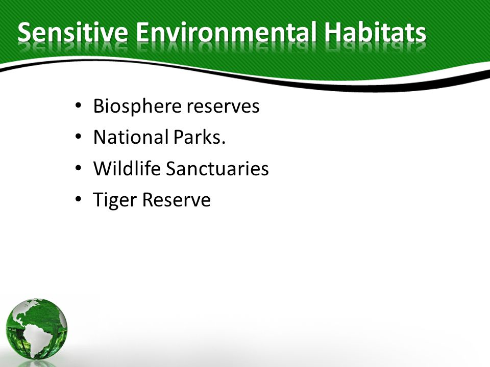 Sensitive Environmental Habitats