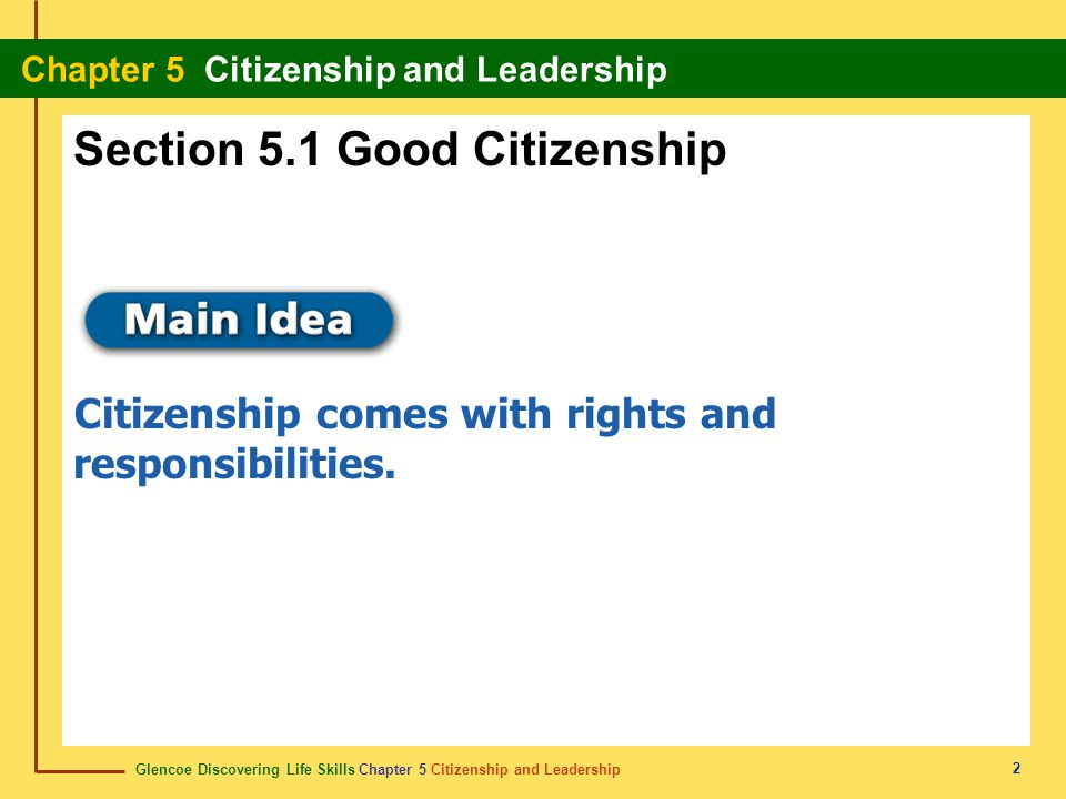 Section 5.1 Good Citizenship