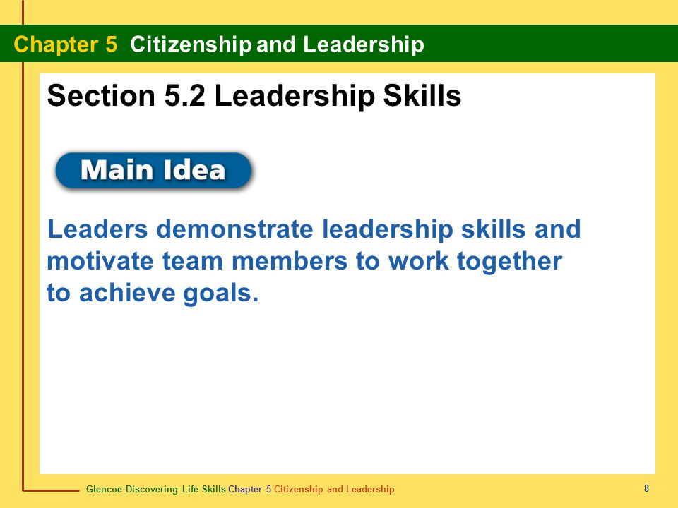 Section 5.2 Leadership Skills