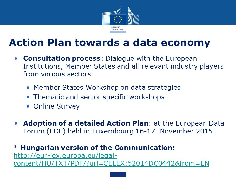 Action Plan towards a data economy