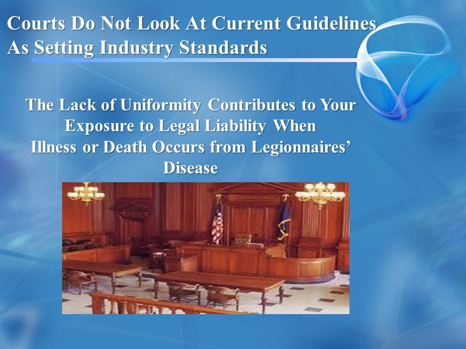 Courts Do Not Look At Current Guidelines As Setting Industry Standards
