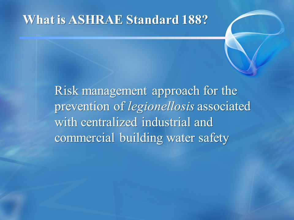 What is ASHRAE Standard 188