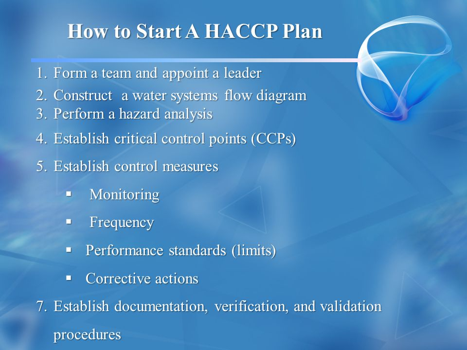 How to Start A HACCP Plan