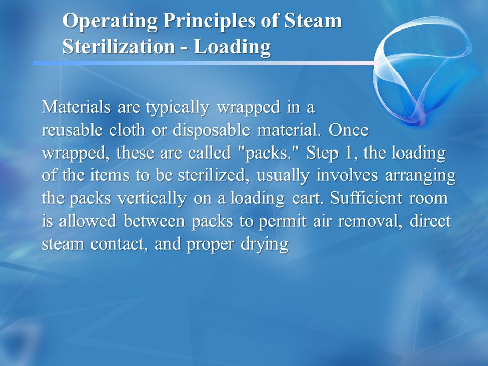 Operating Principles of Steam Sterilization - Loading