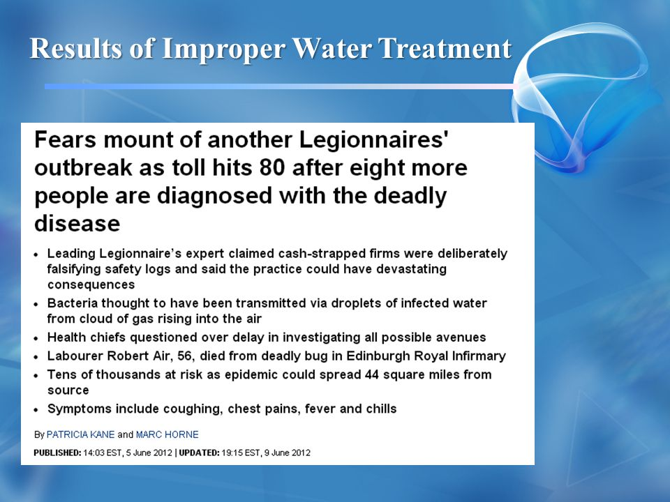 Results of Improper Water Treatment