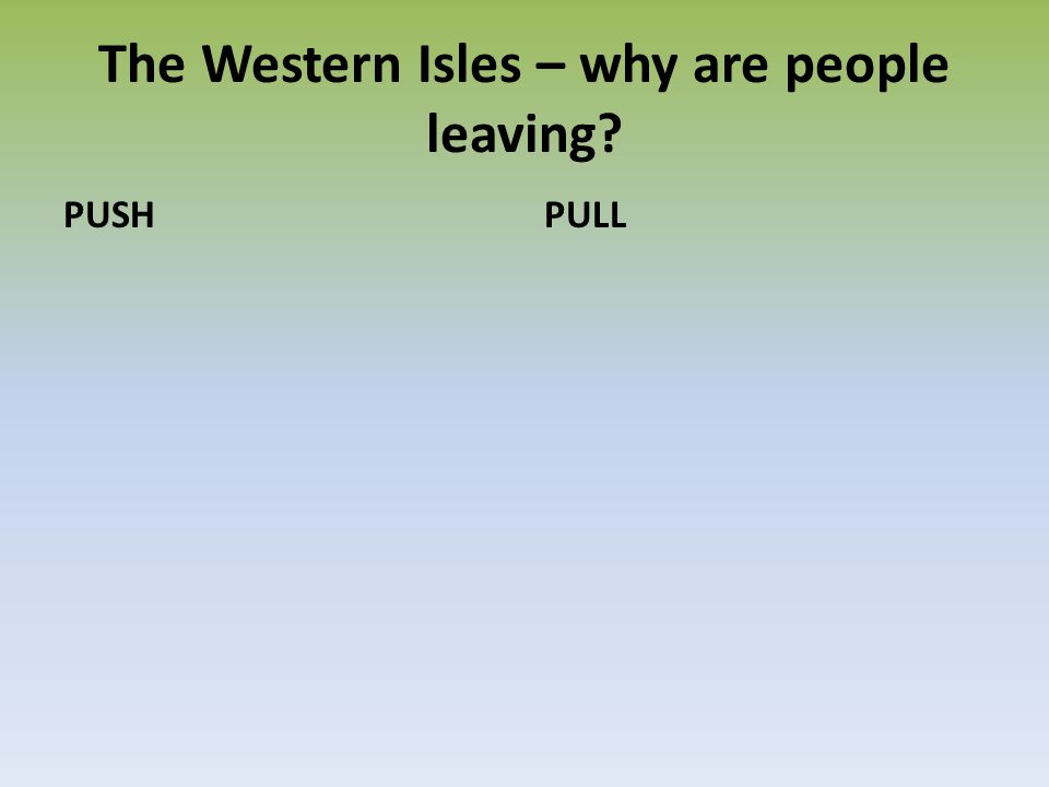 The Western Isles – why are people leaving