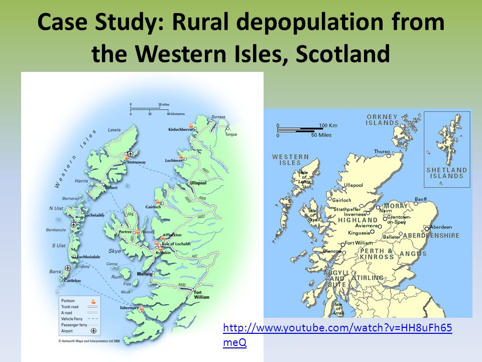 Case Study: Rural depopulation from the Western Isles, Scotland