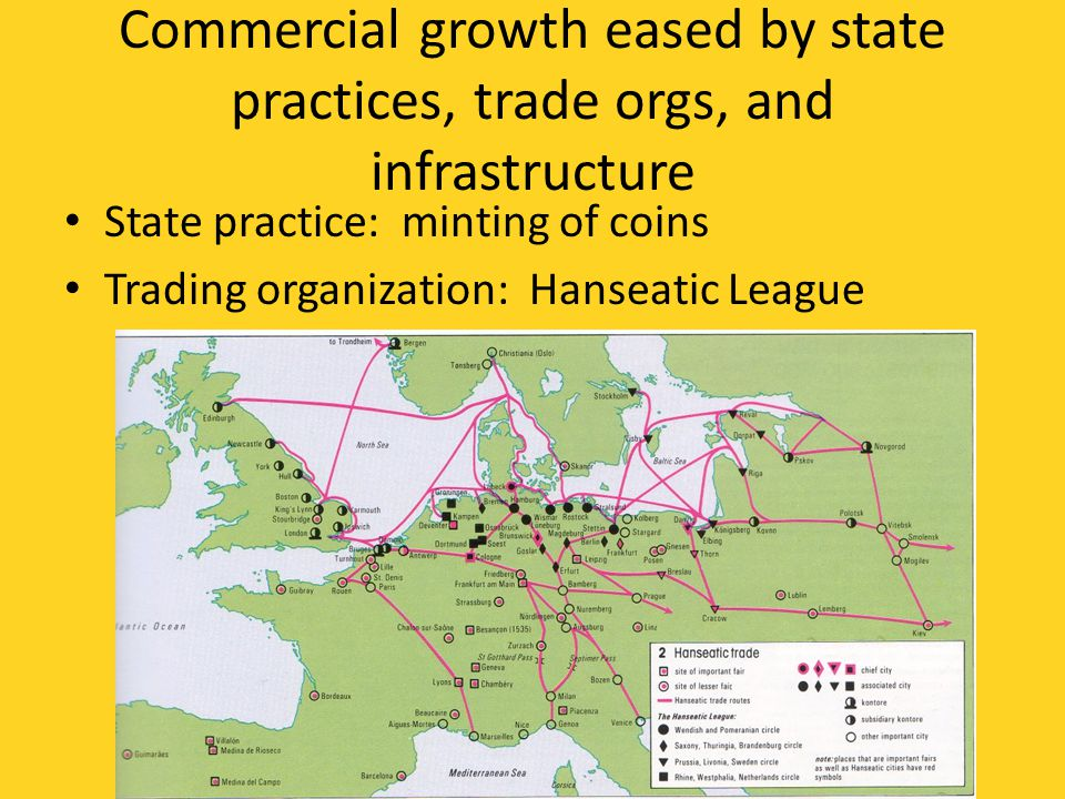 Commercial growth eased by state practices, trade orgs, and infrastructure