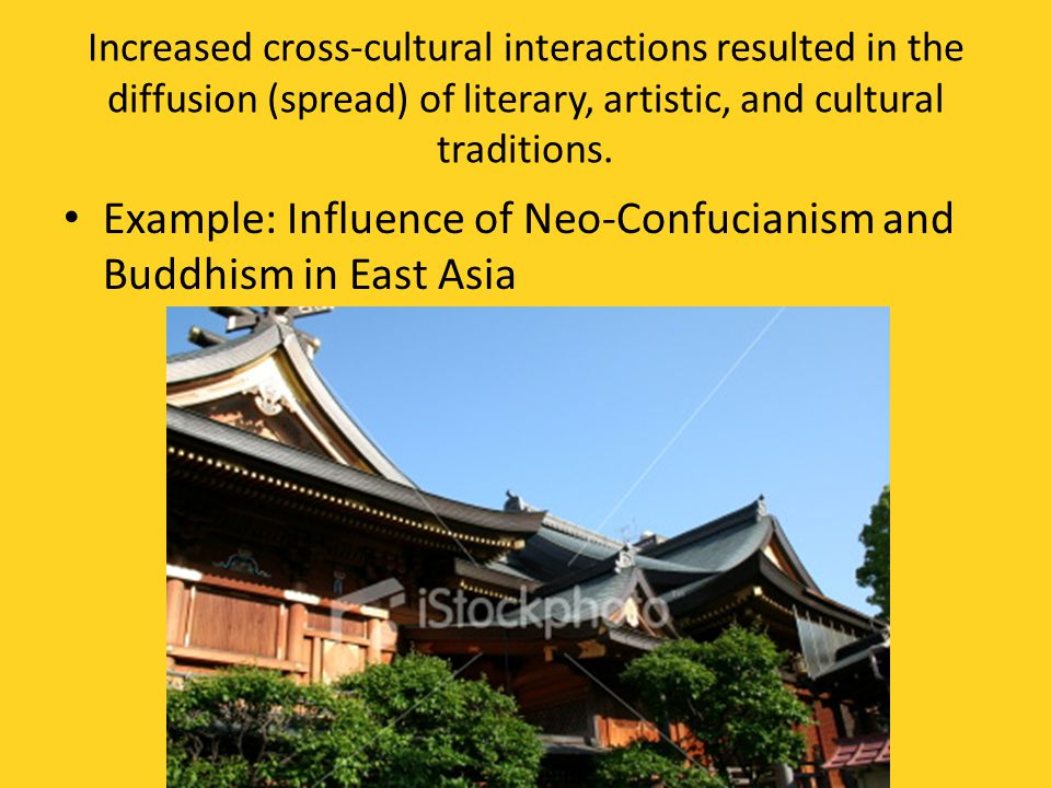 Example: Influence of Neo-Confucianism and Buddhism in East Asia