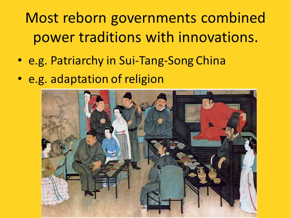 Most reborn governments combined power traditions with innovations.