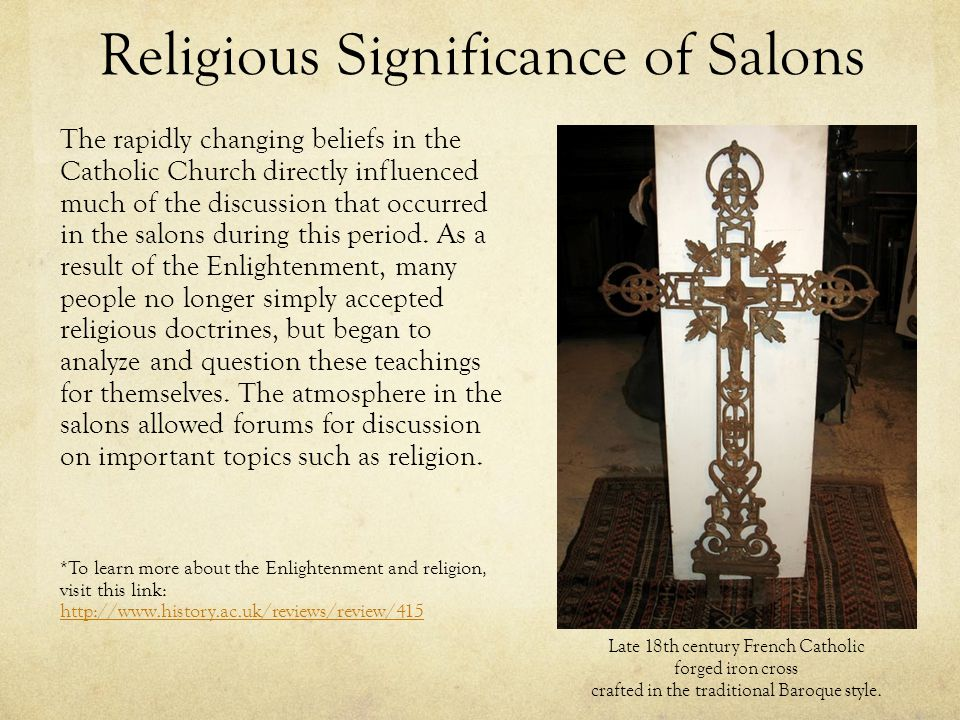 Religious Significance of Salons