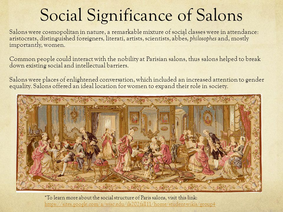 Social Significance of Salons