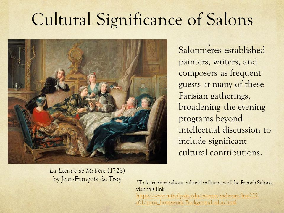 Cultural Significance of Salons