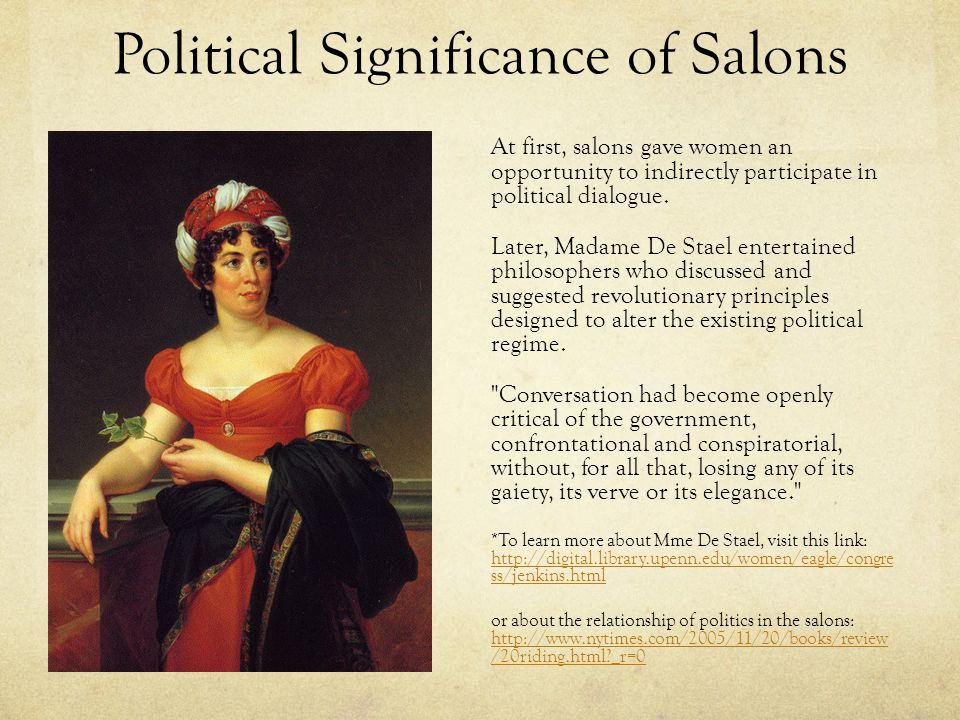 Political Significance of Salons