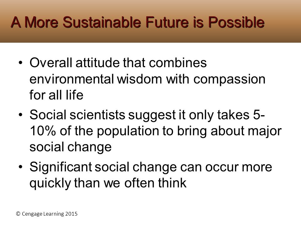 A More Sustainable Future is Possible