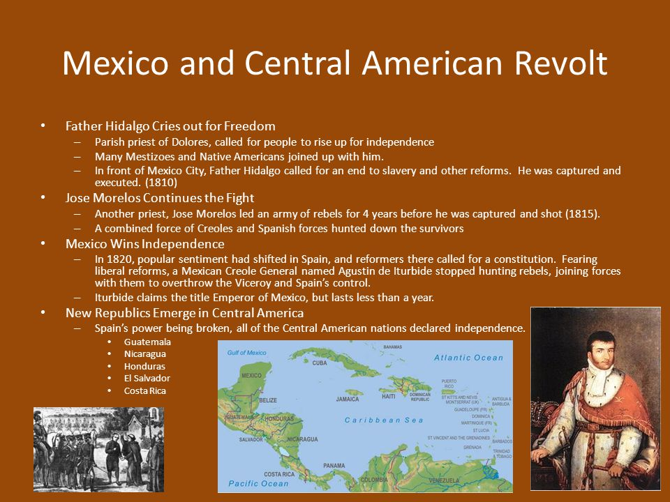 Mexico and Central American Revolt