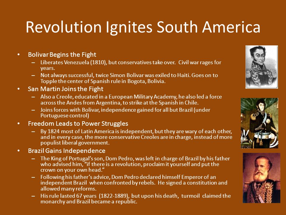 Revolution Ignites South America