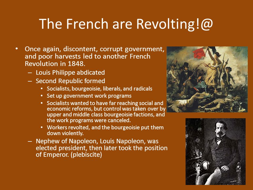 The French are Revolting!@