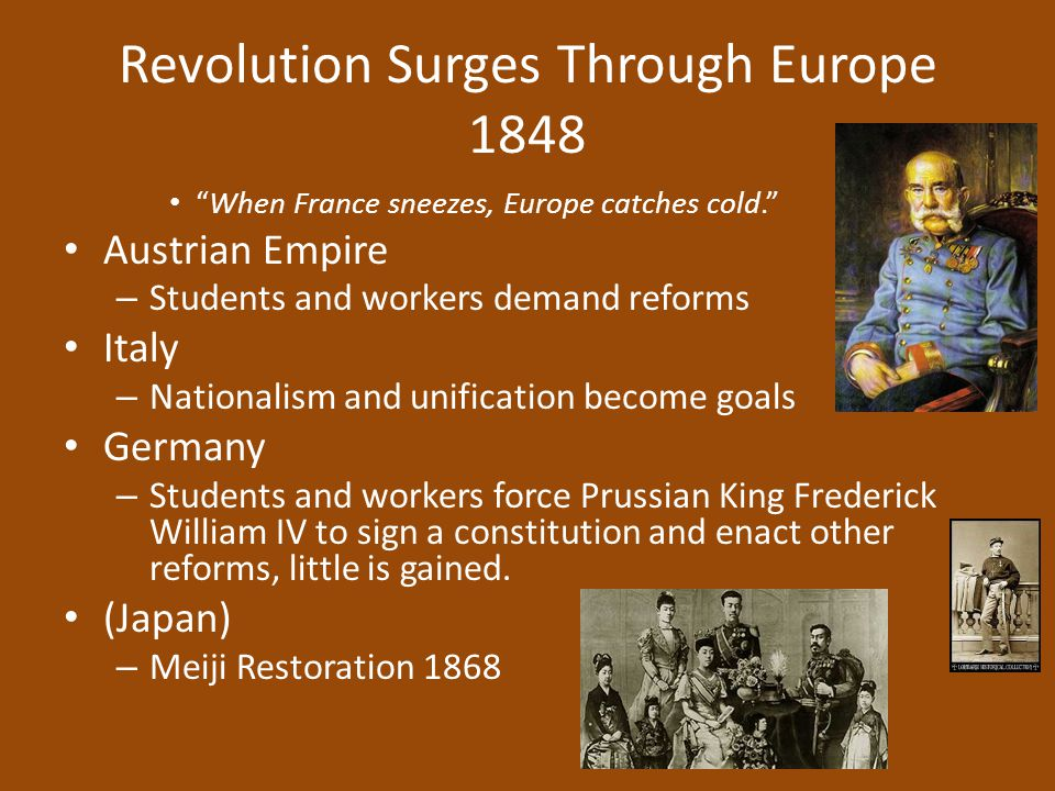 Revolution Surges Through Europe 1848