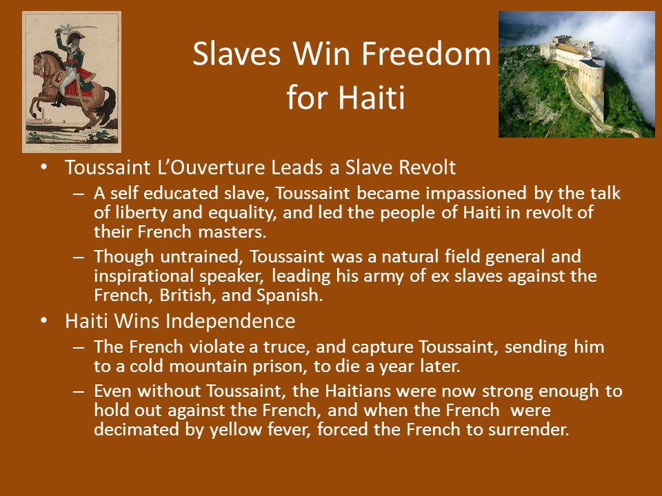 Slaves Win Freedom for Haiti