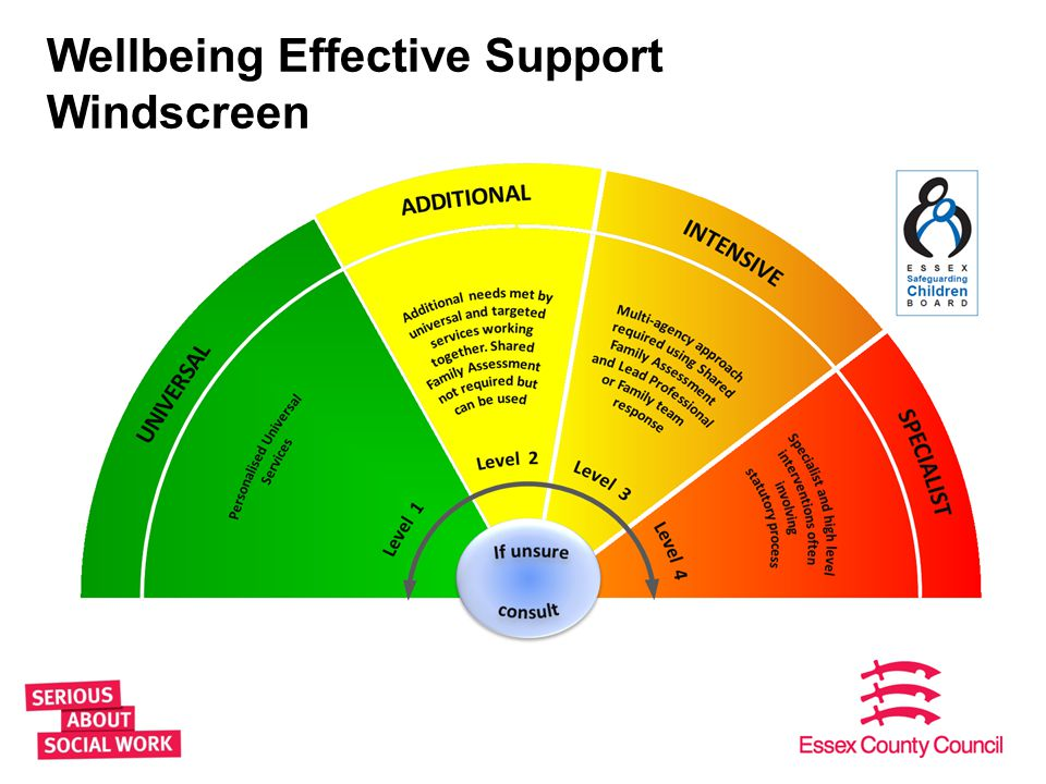 Wellbeing Effective Support Windscreen