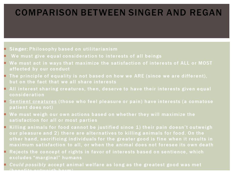 Comparison between Singer and Regan