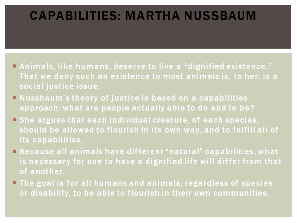 Capabilities: Martha Nussbaum