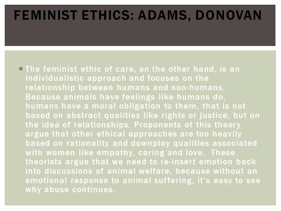 Feminist Ethics: Adams, Donovan