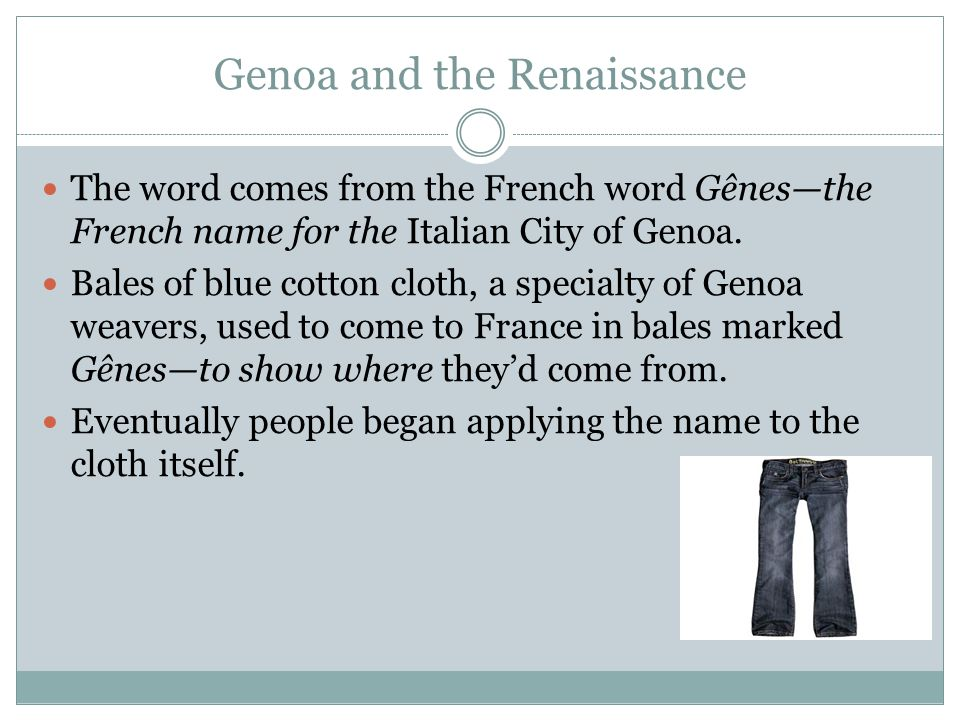 Genoa and the Renaissance