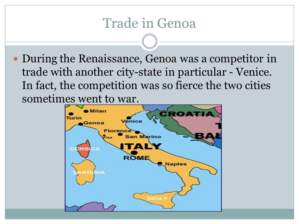 Trade in Genoa