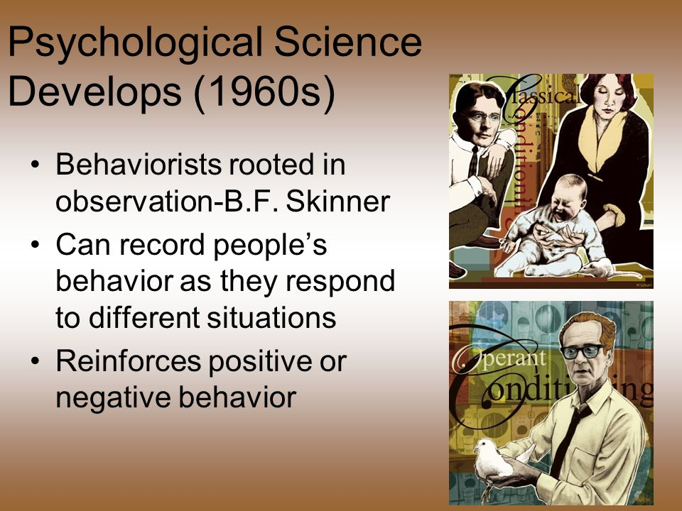 Psychological Science Develops (1960s)