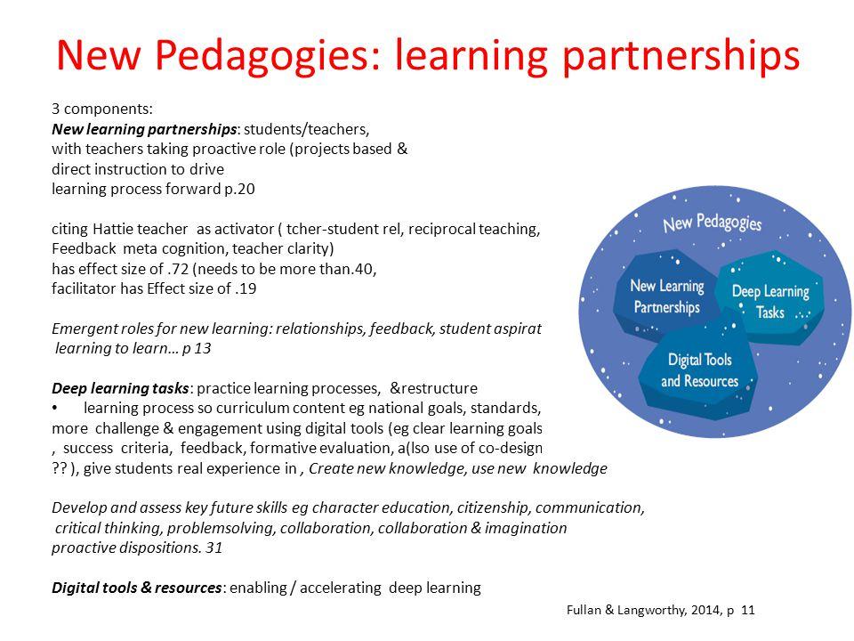 New Pedagogies: learning partnerships