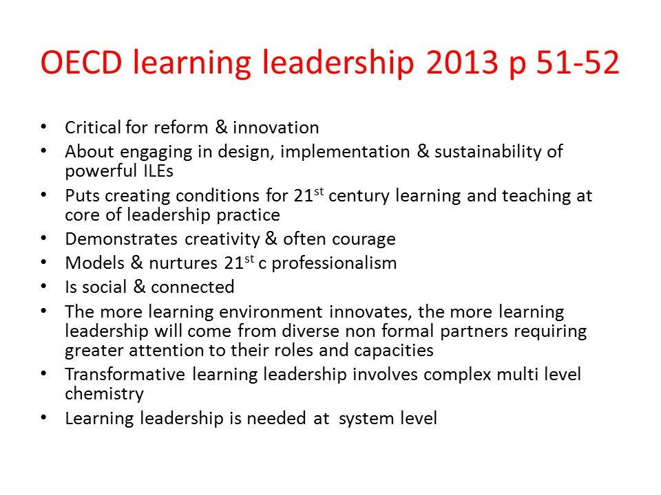 OECD learning leadership 2013 p 51-52