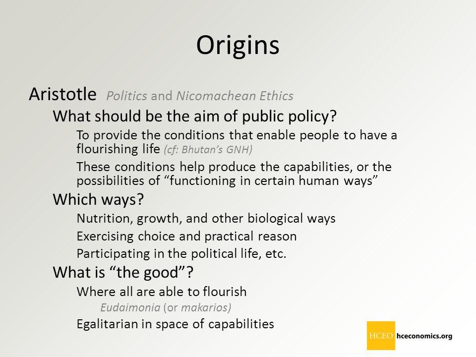 Origins Aristotle Politics and Nicomachean Ethics