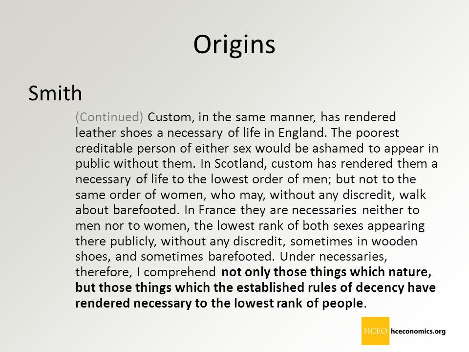 Origins Smith.