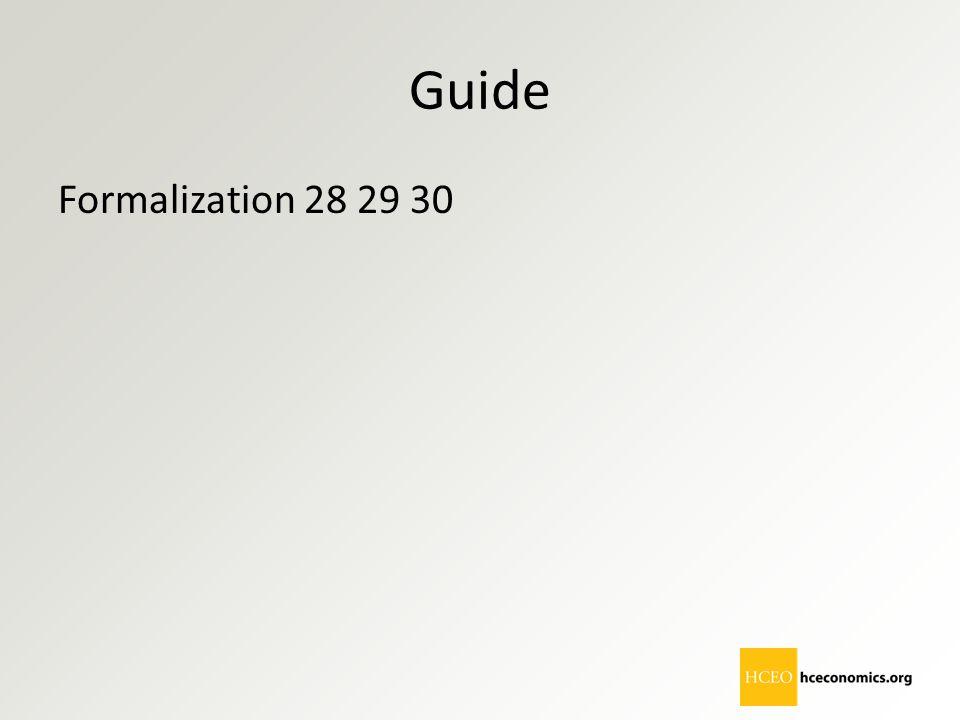 Guide Formalization 28 29 30