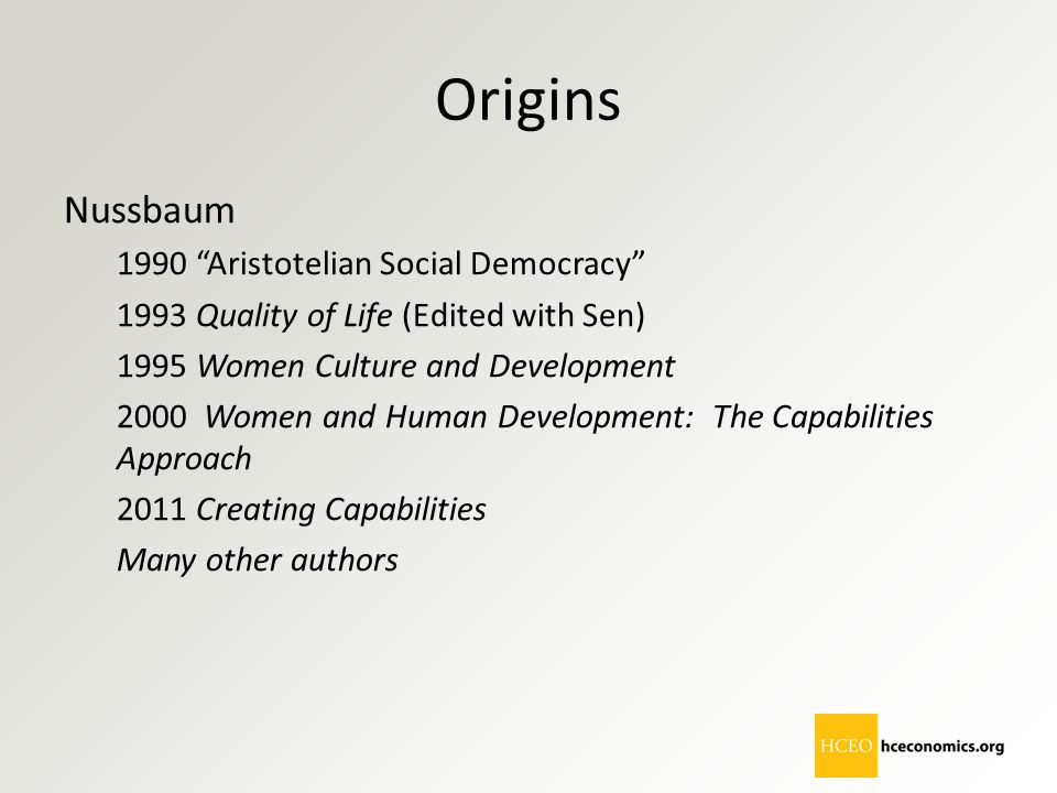 Origins Nussbaum 1990 Aristotelian Social Democracy