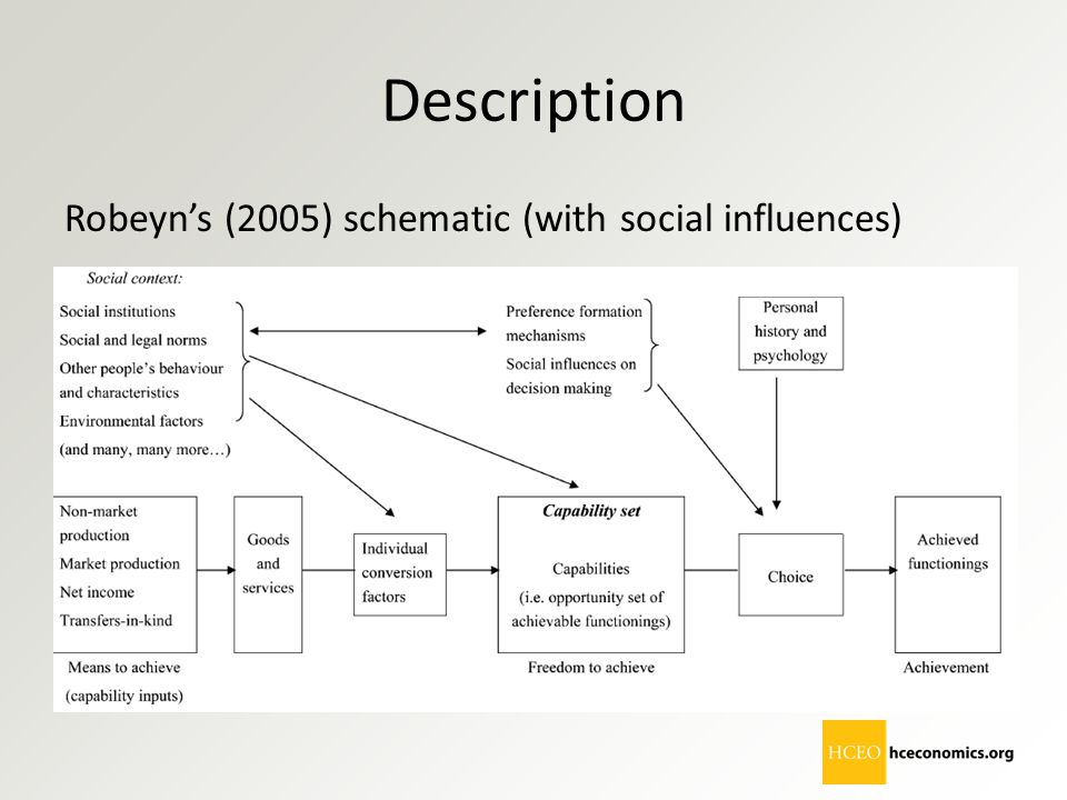 Description Robeyn's (2005) schematic (with social influences)