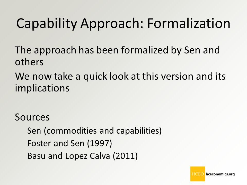 Capability Approach: Formalization